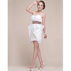 Column Strapless Chiffon Short Junior Homecoming/ Graduation Dresses