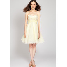 Sexy A-Line Sweetheart Short Chiffon Junior Homecoming Dresses