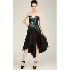 Affordable Sheath Sweetheart High-Low Chiffon Homecoming Dresses