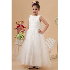 New Style Ankle Length Taffeta Organza First Communion Dresses