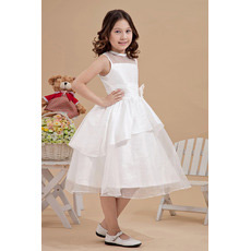 Gorgeous Ball Gown Knee Length Taffeta Organza First Communion Dresses