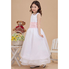 Inexpensive Ankle Length A-Line Organza First Communion Dresses