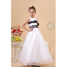 Affordable Applique Ankle Length A-Line First Communion Dresses