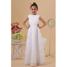 New Style Lace A-Line Floor Length First Communion Dresses