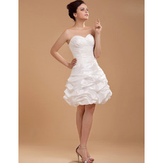 Sexy A-Line Sweetheart Ruched Short Beach Wedding Dresses for Summer
