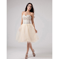 Affordable Custom Sweetheart Knee Length Short Reception Wedding Dresses