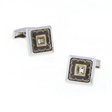 Elegant Brown Square Tuxedo Shirt Cufflinks for Wedding/ Business