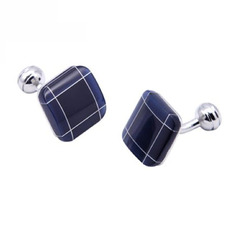 Vintage Blue Conch Tux Cufflinks for Wedding/ Business with Gift Box