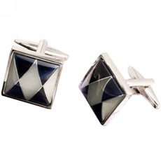 Square Agate Conch Groom Mens Shirt Cufflinks for Wedding/ Business