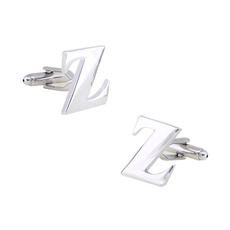 Unique Capital Letter Z Men's Shirt Cufflinks for Party/ Wedding