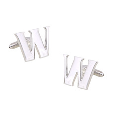 Unique Capital Letter W Men's Shirt Cufflinks for Party/ Wedding