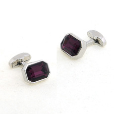 Stunning Purple Swarovski Mens' Cufflinks for Party/ Wedding/ Business