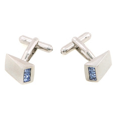 Gorgeous Blue Swarovski Mens' Cufflinks for Party/ Wedding/ Business