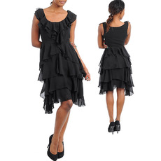 Discount Elegant Short Chiffon Tiered Homecoming/ Party Dresses