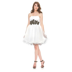 Discount Cute Strapless Short Taffeta Homecoming/ Party Dresses