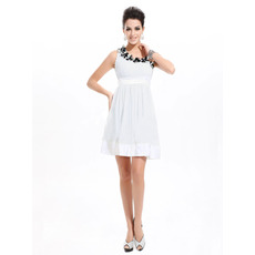 Inexpensive Sexy Short Chiffon Asymmetric Homecoming/ Party Dresses