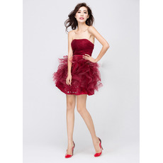 Discount Sexy Ball Gown Strapless Short Homecoming/ Party Dresses