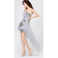 Inexpensive Column Strapless Short Sequin Homecoming/ Party Dresses