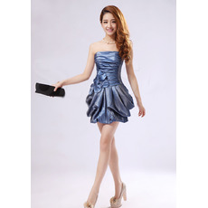 Sexy Sheath Strapless Short Taffeta Homecoming/ Party Dresses