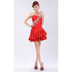 Discount A-Line Sweetheart Short Taffeta Homecoming/ Party Dresses