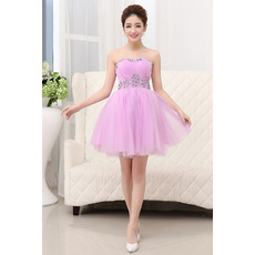 Discount Sexy A-Line Sweetheart Short Tulle Homecoming Dresses