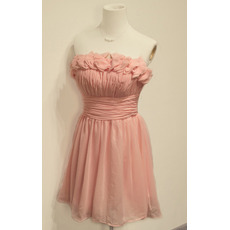 Affordable Elegant Strapless Short Chiffon Homecoming/ Party Dresses