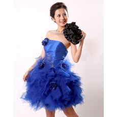 Discount Ball Gown Strapless Short Homecoming/ Party/ Cocktail Dresses