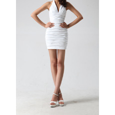 Inexpensive Sexy Sheath Halter Short Ruched Homecoming Dresses