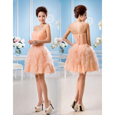 Discount Stylish A-Line Sweetheart Short Tiered Homecoming Dresses