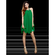 Inexpensive Sexy Halter Short Chiffon Homecoming/ Party Dresses