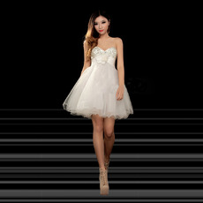 Affordable Cute A-Line Sweetheart Short Homecoming/ Party Dresses