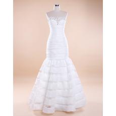 Affordable Sexy Mermaid Sweetheart Floor Length Taffeta Wedding Dresses