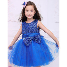 Lovely Ball Gown Mini/ Short Sequin Little Girls Holiday Dresses
