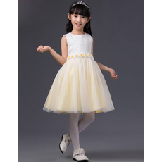 Stunning A-Line Short Flowers Little Girls Easter/ Spring Dresses