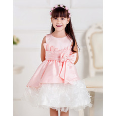 Inexpensive A-Line Short Ruffle Skirt Little Girls Party Dresses