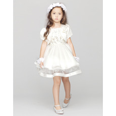 Lovely Ball Gown Short Satin First Communion Dresses with Jackets