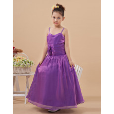 Gorgeous Spaghetti Straps Floor Length Little Girls Party Dresses