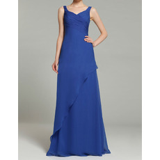 Discount V-Neck Floor Length Chiffon Mother of the Bride Dresses