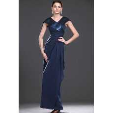 Custom Sheath V-Neck Long Chiffon Mother of the Bride Dresses