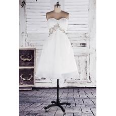 Discount Empire Sweetheart Chiffon Short/ Mini Beach Wedding Dresses