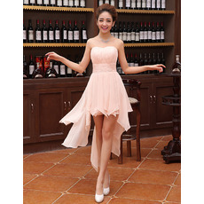 Sexy Sweetheart Sleeveless Asymmetric Short Chiffon Homecoming Dresses