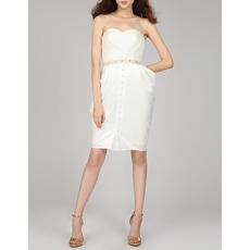 Custom Column Sweetheart Short Chiffon Homecoming/ Cocktail Dresses