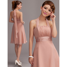 Cute & Sexy A-Line Halter Empire Short Chiffon Homecoming Dresses