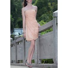 Discount Column Strapless Mini Chiffon Homecoming/ Cocktail Dresses