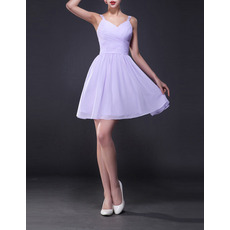 Discount A-Line Straps Sweetheart Short Chiffon Homecoming Dresses