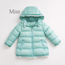 Cute Girls Kids Winter Hooded Long Down Coats/ Jackets/ Snowsuits