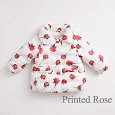 Fashion Girls Kids Winter Printed Down Coats/ Jackets/ Snowsuits