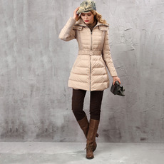 2018 Women's Fashion Fall Winter Fit Solid Long Down Coats Parkas