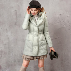 Designer Women's Fashion Winter Slim A-Line Long Down Coats Parkas