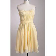 Discount Sweetheart Knee Length Chiffon Pleated Bridesmaid Dresses